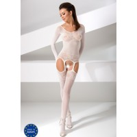 Комбинезон белый с длинными рукавами (Passion) (S-XXL)