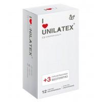Презервативы Unilatex Natural Ultrathin  №12+3  ультротонкие -ШТ