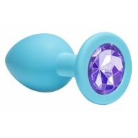 Анальная пробка Emotions Cutie Medium Turquoise light purple crystal 4012-04Lola