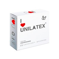ПРЕЗЕРВАТИВЫ UNILATEX ULTRA THIN ультратонкие, 3 шт., арт. 3012