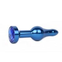 СИНЯЯ АНАЛЬНАЯ ВТУЛКА, L 103 мм D 28 мм, вес 80г, цвет кристалла синий арт. ZBLU-13