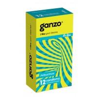 ПРЕЗЕРВАТИВЫ GANZO RIBS №12 (анатомические ребристые с согревающей смазкой)