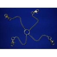 Четыре цепи на кольце с одной стороны и карабинами на другой (дл.цепи 150мм)