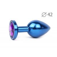 BLUE PLUG LARGE (втулка анальная), L 93 мм D 42 мм, вес 170г, цвет кристалла фиолетовый, арт. BLUL-0