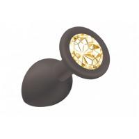 Анальная пробка Emotions Cutie Small Black  golden crystall 4011-07Lola