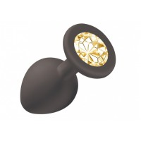Анальная пробка Emotions Cutie Medium Black  golden crystal 4012-07Lola