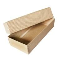 Коробка крафт из рифлёного картона, 25 х 11,5 х 6 см