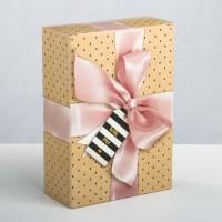 Коробка прямоугольная With love, 16 х 23 х 7,5 см