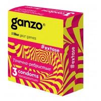 ПРЕЗЕРВАТИВЫ GANZO EXTASE №3 (анатомические с точечной и ребристой текстурой)