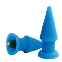 ВТУЛКА АНАЛЬНАЯ С ВИБРАЦИЕЙ ANAL PLUG MIDI VIBE  силикон, синий, L 99 мм, D 42 мм арт. ST-40108-2V