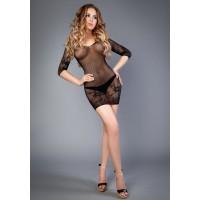 Платье черное с длинным рукавом (Impulse) (S-L)