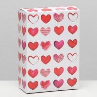 Коробка складная Сердечки, 16 × 23 × 7,5 см 6830797