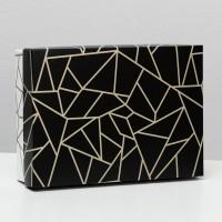 Коробка подарочная Осколки, черно-белые, 21 х 15 х 5 см 6895516