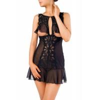 Комбинация Erolanta Lingerie Collection с открытой грудью, черная (42-44)