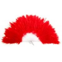 Веер пуховой цвет красный 28см 302290