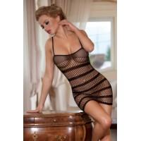 Платье-сетка Candy Girl с полосками, черное, OS 844000