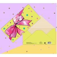 Конверт для денег Розовый бант, 16.5 × 8 см