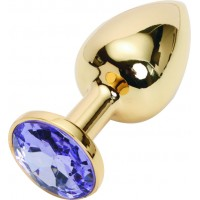 GOLDEN PLUG SMALL (втулка анальная) цвет кристалла светло-филетовый, L 72 мм, D 28 мм, вес 50г, арт.