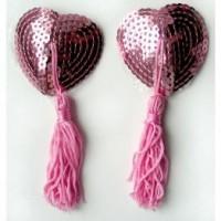 ПЭСТИСЫ цвет розовый, (текстиль) арт. MLF-90004-6