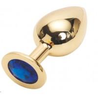 GOLDEN PLUG LARGE (втулка анальная) цвет кристалла синий, L 95 мм, D 41 мм, вес 160г, арт. GL-13
